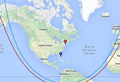 aircraft range map